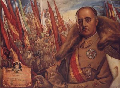 Ilustração do ditador Francisco Franco